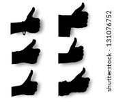 Vector Set Silhouette Hands...
