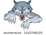 gray wolf suitable as logo for... | Shutterstock .eps vector #1310768135