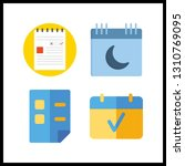4 reminder icon. vector... | Shutterstock .eps vector #1310769095