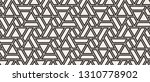pattern with intersecting... | Shutterstock .eps vector #1310778902