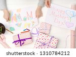 happy mother's day card made by ... | Shutterstock . vector #1310784212