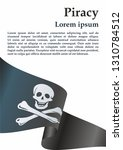 pirate flag with skull and... | Shutterstock .eps vector #1310784512