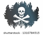 pirate flag with skull and... | Shutterstock .eps vector #1310784515