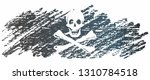 pirate flag with skull and... | Shutterstock .eps vector #1310784518