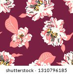 seamless pattern with pink... | Shutterstock .eps vector #1310796185