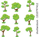 tree vector nature set garden... | Shutterstock .eps vector #1310797412