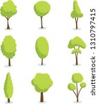 tree vector nature set garden... | Shutterstock .eps vector #1310797415