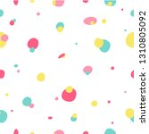 colorful seamless dots doodle... | Shutterstock .eps vector #1310805092