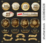 retro golden ribbons labels and ... | Shutterstock .eps vector #1310806028