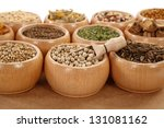 herbs and spices in small... | Shutterstock . vector #131081162