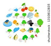 pure land icons set. isometric... | Shutterstock .eps vector #1310812835