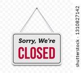 closed hanging door sign.... | Shutterstock .eps vector #1310827142
