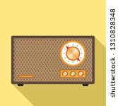 retro radio icon. flat... | Shutterstock .eps vector #1310828348