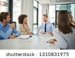 small group of business people... | Shutterstock . vector #1310831975
