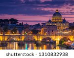 night view of old sant' angelo... | Shutterstock . vector #1310832938