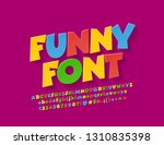 vector colorful funny font for... | Shutterstock .eps vector #1310835398