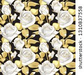 flowers roses on a black... | Shutterstock .eps vector #1310837558