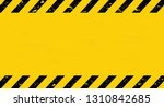 black and yellow line striped.... | Shutterstock .eps vector #1310842685