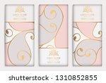 luxury packaging design of... | Shutterstock .eps vector #1310852855