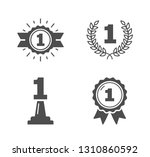 four icons with number one ... | Shutterstock .eps vector #1310860592