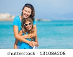 portrait of mother and her... | Shutterstock . vector #131086208