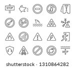 set of warning icons  such as...   Shutterstock .eps vector #1310864282