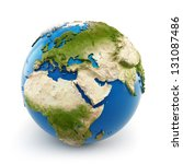 3d earth globe with embossed... | Shutterstock . vector #131087486