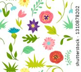 seamless pattern with spring... | Shutterstock .eps vector #1310878202