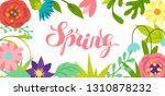 background with spring flowers. ... | Shutterstock .eps vector #1310878232