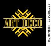 geometric ornamental retro...   Shutterstock .eps vector #1310881298