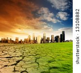 effect of global warming on a... | Shutterstock . vector #13108882