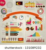 set of colored infographic... | Shutterstock .eps vector #131089232