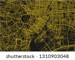 black and yellow vector city... | Shutterstock .eps vector #1310903048