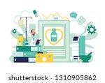 male doctor  general... | Shutterstock .eps vector #1310905862