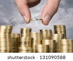 savings  close up of male hand... | Shutterstock . vector #131090588