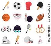 sports equipment color flat...   Shutterstock .eps vector #1310910275