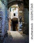 narrow cobbled streets of...   Shutterstock . vector #1310917265