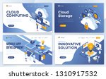set of landing page design... | Shutterstock .eps vector #1310917532