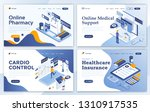 set of landing page design... | Shutterstock .eps vector #1310917535
