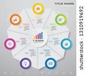 7 steps simple editable process ...   Shutterstock .eps vector #1310919692