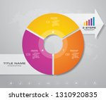 modern 3 steps pie chart ...   Shutterstock .eps vector #1310920835