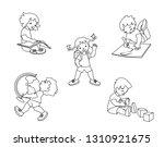 children in elementary school.... | Shutterstock .eps vector #1310921675