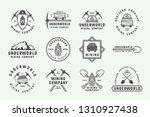 set of retro mining or... | Shutterstock .eps vector #1310927438
