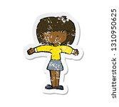 retro distressed sticker of a... | Shutterstock .eps vector #1310950625