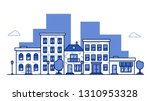urban city landscape with... | Shutterstock .eps vector #1310953328