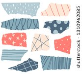 pieces of torn colorful papers... | Shutterstock .eps vector #1310962085
