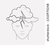 mental illness icon line... | Shutterstock .eps vector #1310970248