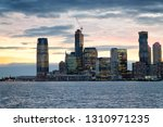 jersey city sunset skyline as... | Shutterstock . vector #1310971235