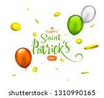 irish holiday   happy saint... | Shutterstock . vector #1310990165