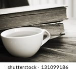 cup of tea and old books | Shutterstock . vector #131099186